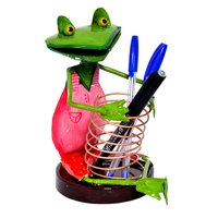Iron Painted Setting Frog Pen Stand Holder