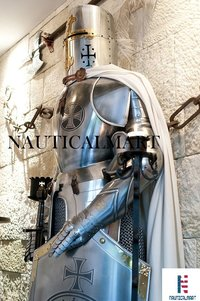 B07FMDVZ29  NAUTICALMART Medieval Wearable Knight Crusader Full Suit of Armour Collectibles Armor Costume