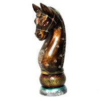 Home Decorative Iron Painted Wooden Horse Head