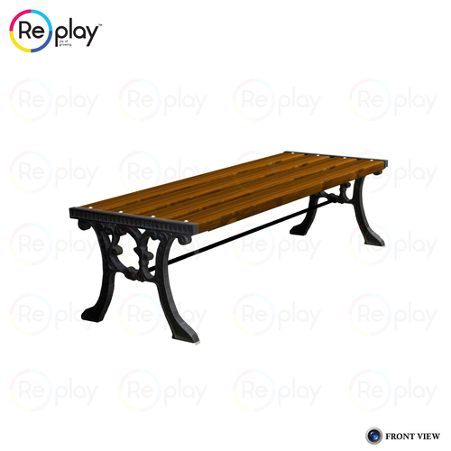 FRP Strip Cast Iron Bench Without Backrest