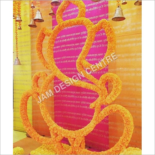 Decorative Wedding Flower Ganesh Service