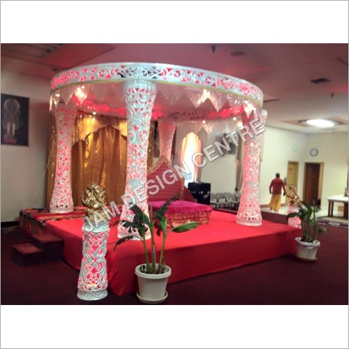 Indoor Wedding Fiber Mandap