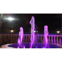 Bubbler Fountain With LED Lights