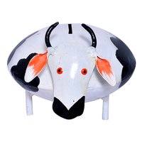 Iron Painted Small Cow Design Home Decoration Money Bank Box Holder