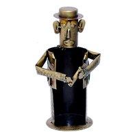Iron Painted Decorative Men Wine Bottle Stand