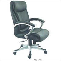 Mg 205 Fixed Arm Leather Chair