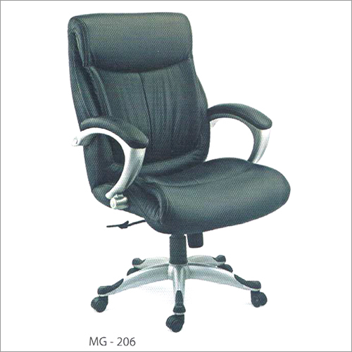 MG 206 Black Leather Chair