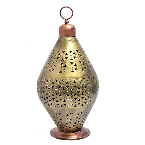 Home Decorative Iron Painted World Cup Shape Tea Light Holder Jar