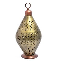 Home Decorative Iron Painted World Cup Shape Tea Light Holder Jar