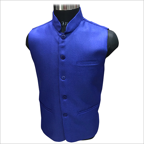 Blue Plain Nehru Jacket