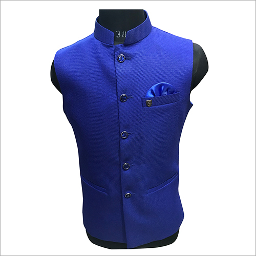 Party Wear Plain Nehru Jacket