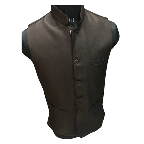 Men Designer Plain Nehru Jacket