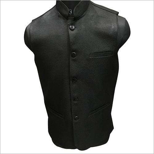 Black Plain Nehru Jacket