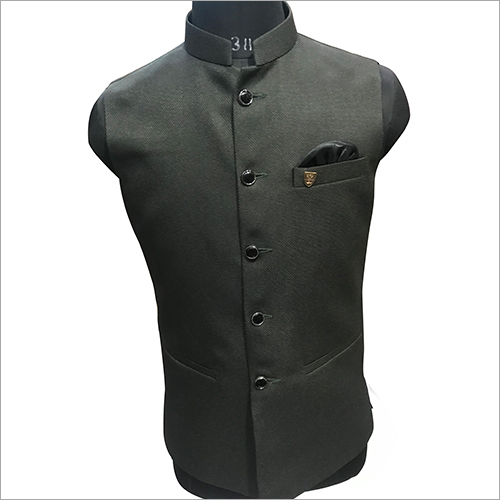 Designer Plain Green Nehru Jacket