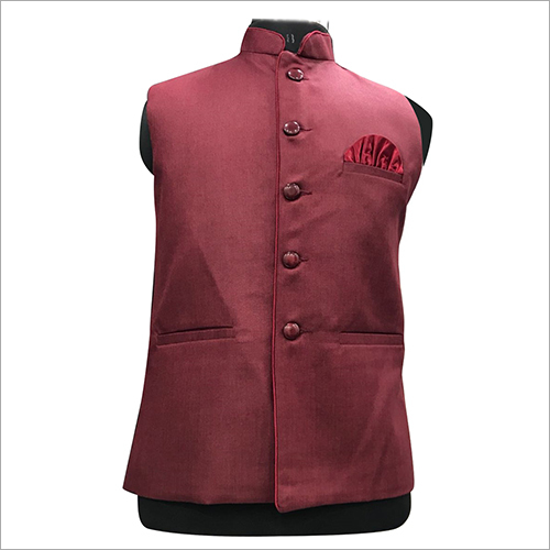 Mens Stylish Plain Nehru Jacket
