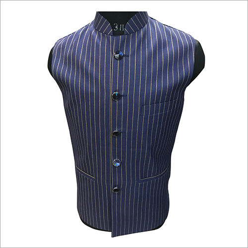 Striped Nehru Jacket