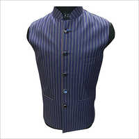 Mens Striped Nehru Jacket