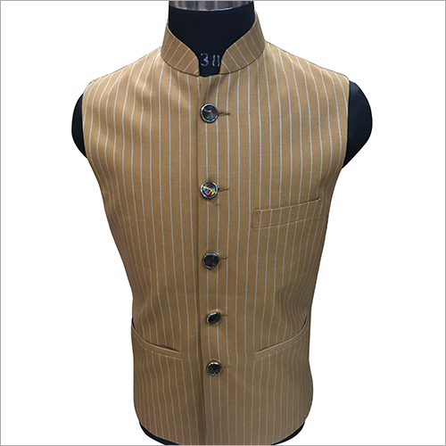 Stylish Striped Nehru Jacket