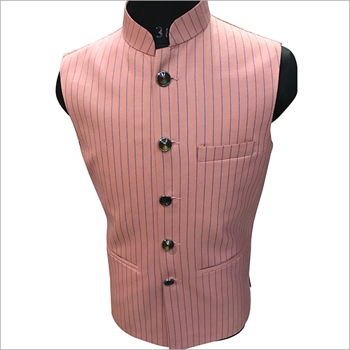 Fancy Striped Nehru Jacket