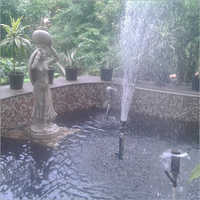 Bell Nozzle With Vulcan Outdoor Fountain