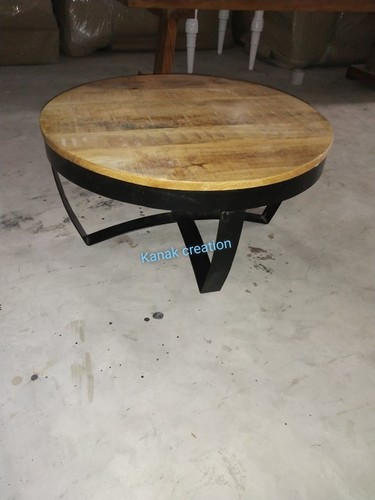 Industrial Home Round Cocktail Table