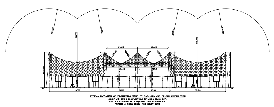 Direct Stroke Lightning Protection Layout Drawing