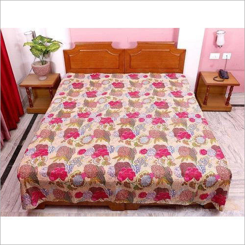 Indian Handmade Kantha Bedsheet
