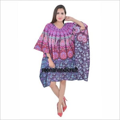 Ladies Mandala Print Kaftan