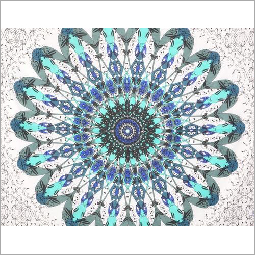 Flower Ombre Mandala Wall Tapestry