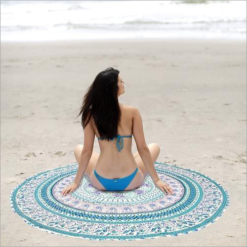 Indian Mandala Print Beach Throw