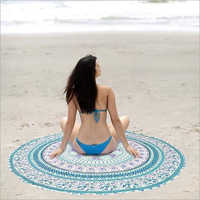 Indian Mandala Print Beach Throw