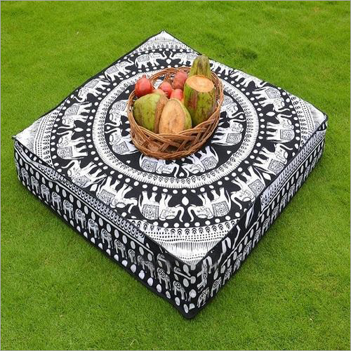 Printed Square Cushion Cover