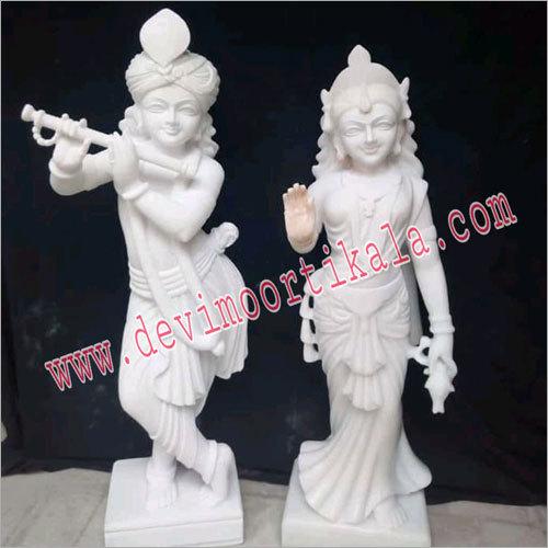 Marble Radha Kirshan Statue
