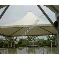 White Outdoor Gazebo Tensile