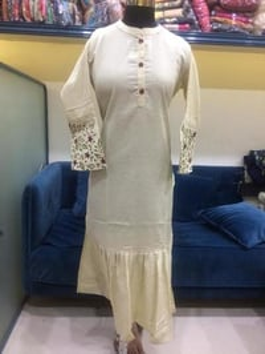 Designer White Kurti