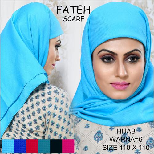 Blue Fateh Hijab Scarf