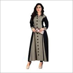 Ladies Cotton Printed Semi Stitched Kurti Kurti