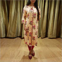 Ladies Rayon Block Print Kurti