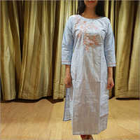 Ladies Cotton Linen Kurti