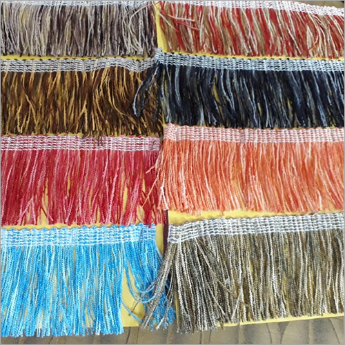 Available In Multi Color Poncho And Stoll Tassel Lace
