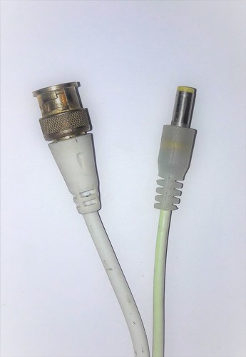 BNC + DC connector cable pair