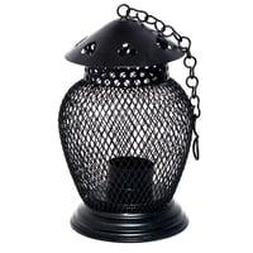 Iron Painted Home Decorative Small Net Work Lantern Tea Light Stand