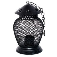 Iron Painted Home Decorative Small Net Work Lantern Tea Light Stand