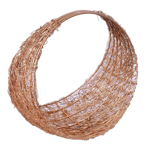 Iron Painted Gold Wire Mesh Designer Dry Fruit Trays Basket Set