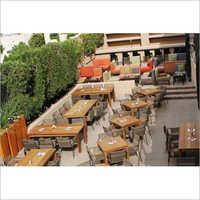 Outdoor Wooden Fine Dine Set