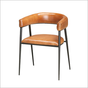 Modern Iron Base Leather Chair