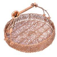 Home Decorative Gold Wire Mesh Designer Dry Fruit Trays Basket Set