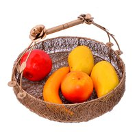 Home Decorative Gold Wire Mesh Designer Dry Fruit Trays Basket Set