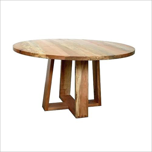 Solid Wood Round Shape Dining Table