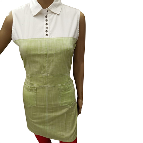 Ladies Collar Sleeveless Kurti